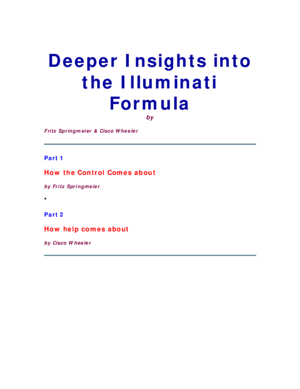 2b476e5ecac9 PDF) Deeper Insights into the Illuminati Forumula by Fritz ...