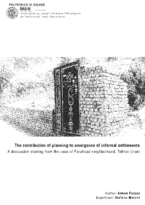 PDF) The contribution of planning to emergence of informal