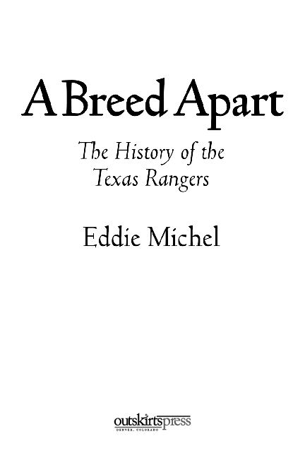 1e6034bc9bc55 PDF) A Breed Apart  The History of the Texas Rangers