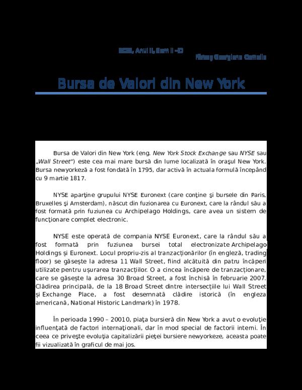 bitcoin new york burse de valori