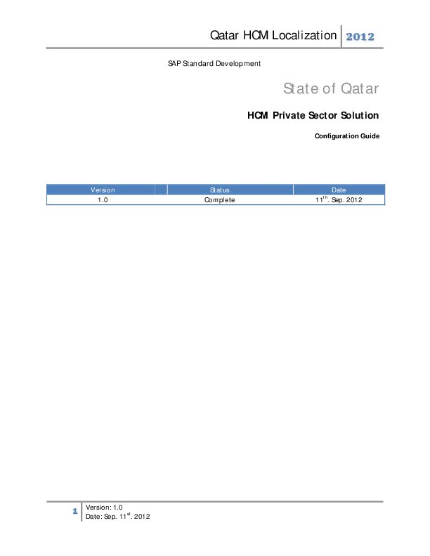 PDF) State of Qatar HCM Private Sector Solution
