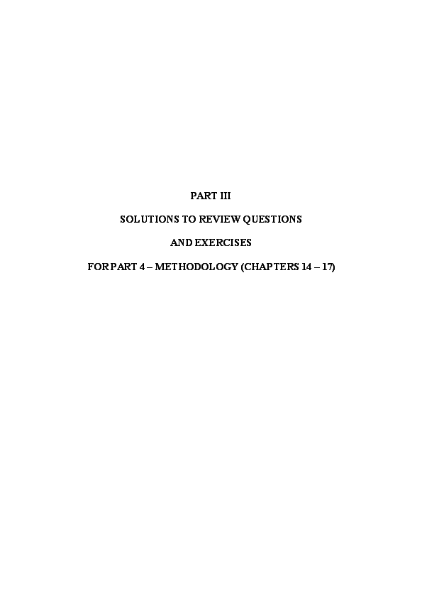 DOC) PART III SOLUTIONS TO REVIEW QUESTIONS AND EXERCISES