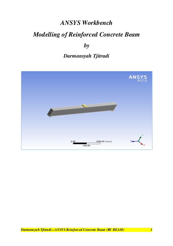 PDF) ANSYS Workbench Modelling of Reinforced Concrete Beam