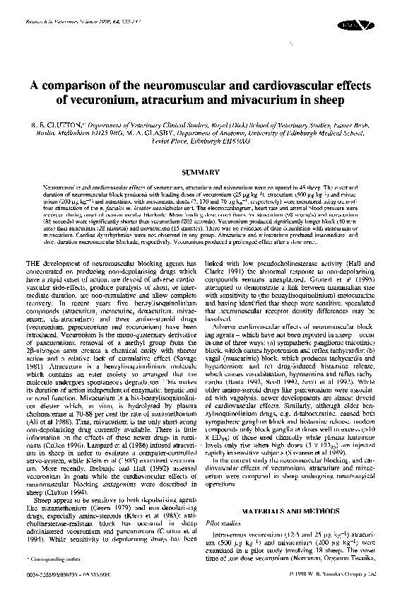 PDF) A comparison of the neuromuscular and cardiovascular