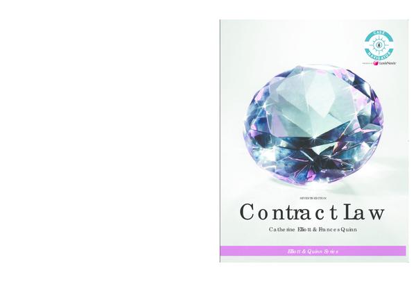 PDF) contract law elliot pdf | Nelline Williams - Academia edu