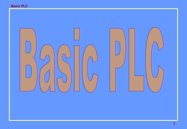 PPT) Basic PLC | Yin Soe - Academia edu