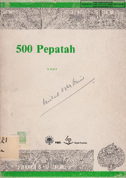 Pdf Pepatah Melayu Jerri Sinaga Academiaedu