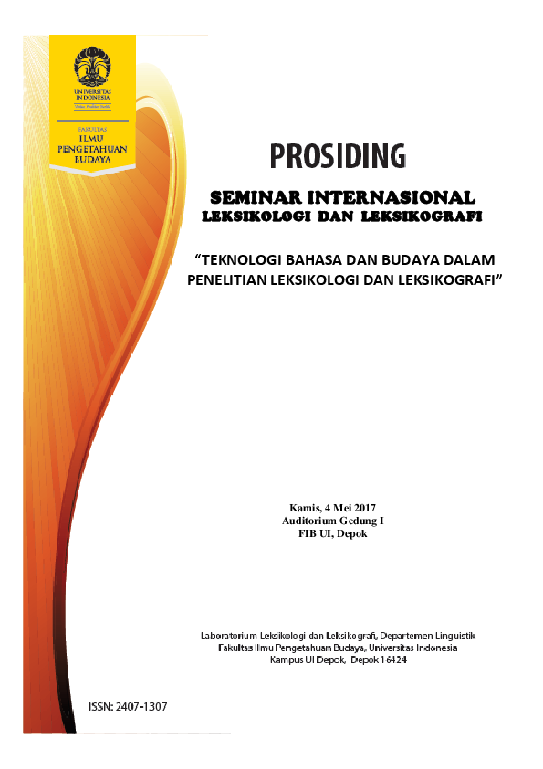 Pdf E Proceeding Of International Seminar Lexicology And Lexicography At Universitas Indonesia 4 May 2017 Fajar Erikha Inu Isnaeni And Ani Rachmat Academia Edu