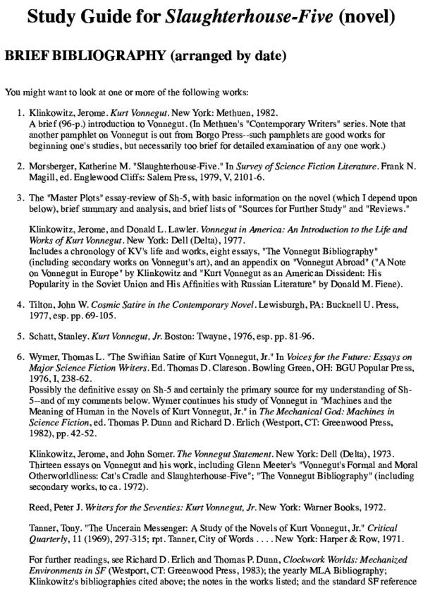 kurt vonnegut essays pdf