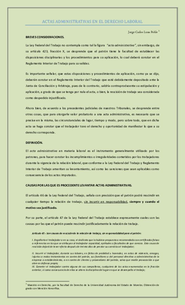 Pdf Apuntes Acta Administrativa 1 Conde Adan Garcia