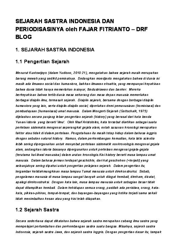 Kerikil Tajam Chairil Anwar Pdf