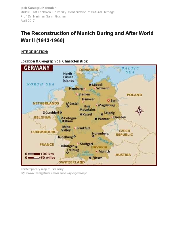 Map Of Germany During World War 2.Pdf The Reconstruction Of Munich During And After World War Ii