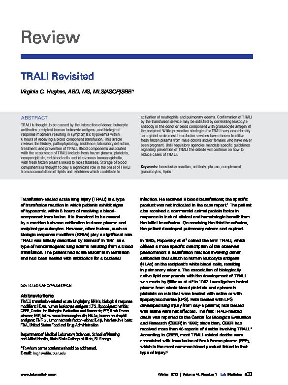 PDF) TRALI_Revisted pdf | Virginia Hughes - Academia edu