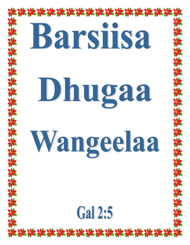Barsiisa Dhugaa Wangeelaa pdf | Dekeba Jesus - Academia edu