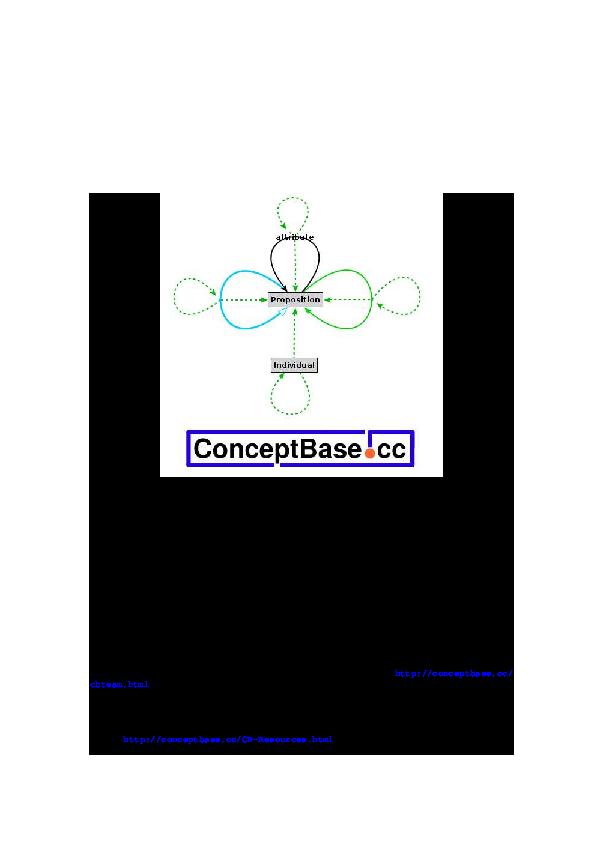PDF) ConceptBase cc User Manual Version 8 0 | Manfred