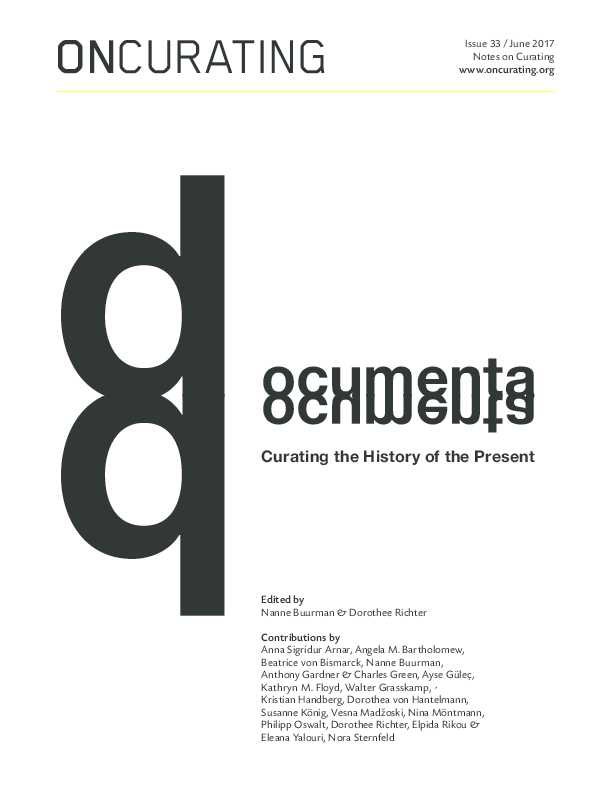 607a0b4db10 PDF) Documenta  Curating the History of the Present