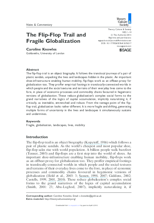 18a700dacd4a The Flip-Flop Trail and Fragile Globalization