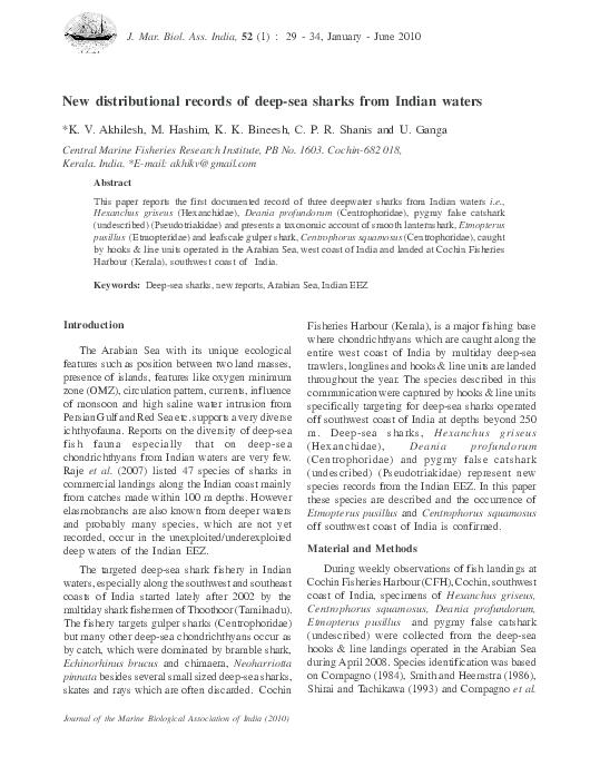PDF) 14 New records of shark pdf | Rajool Shanis - Academia edu