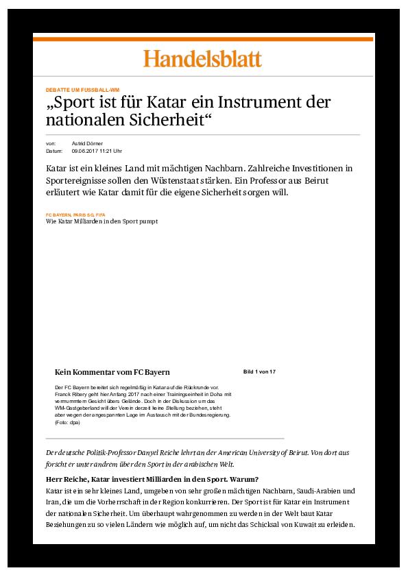 Debatte Um Fussball Wm Sport Ist Fur Katar Ein Instrument