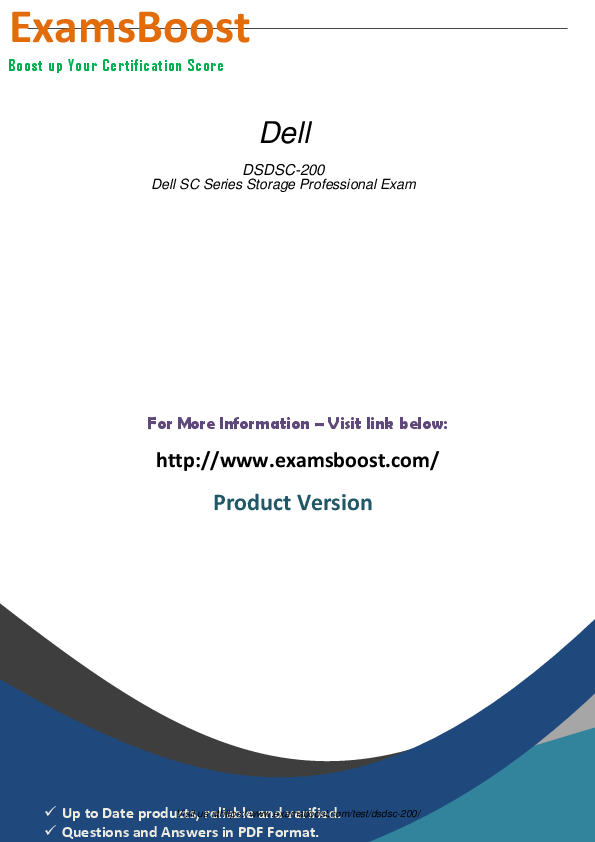PDF) Dell DSDSC-200 Dell SC Series Storage Professional Exam