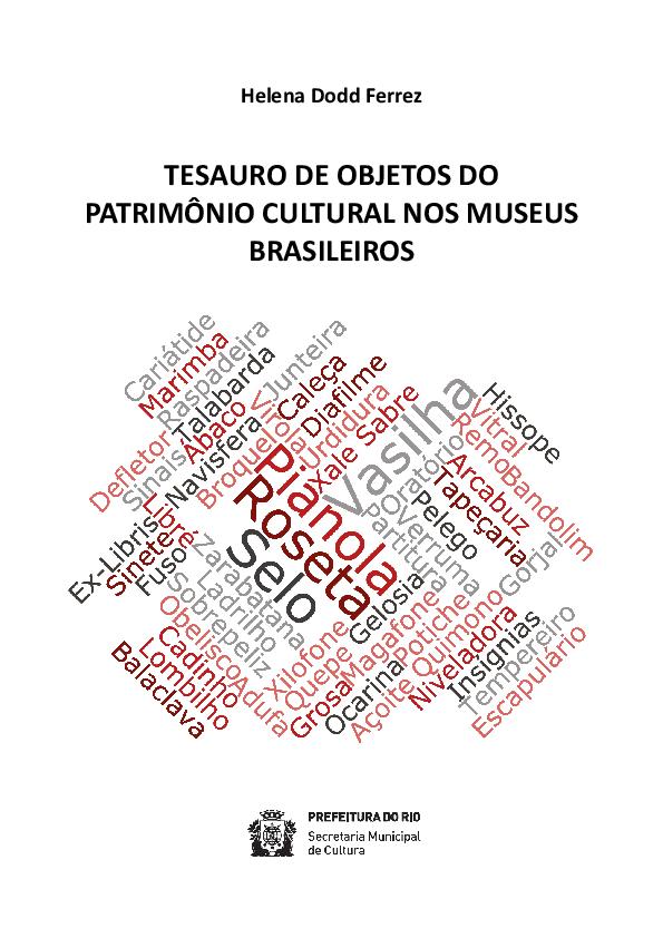 TESAURO DE OBJETOS DO PATRIMÔNIO CULTURAL NOS MUSEUS BRASILEIROS ... 4104c86935