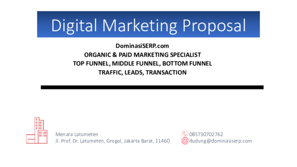 Pdf Digital Marketing Proposal Rizki Hidayat Academia Edu