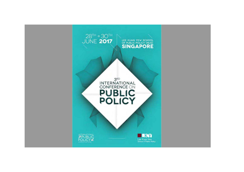 5d662ee1ea9 3rd International Conference on Public Policy (Singapore). How ...