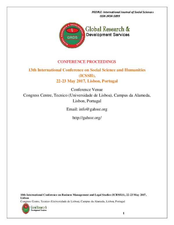 PDF) Conference on Social_Science and Humanities, 2017 pdf