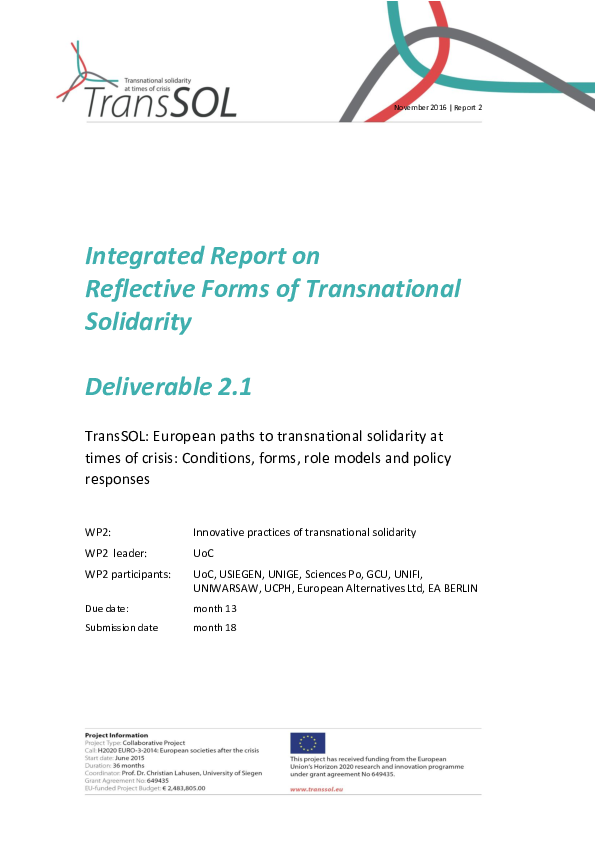 PDF) Integrated Report on Reflective Forms of Transnational