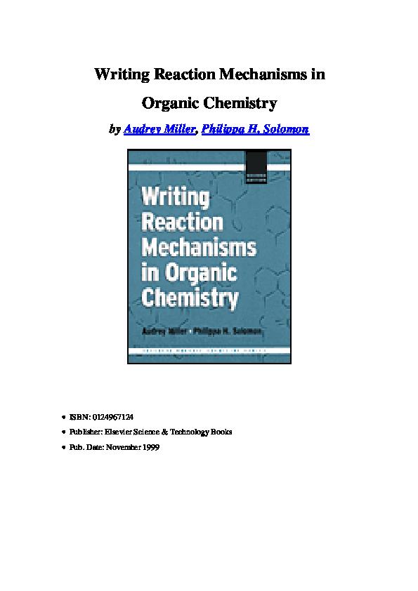 Organic Chemistry Reactions Mechanisms Pdf