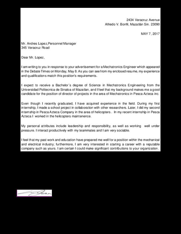 DOC) Cover Letter Alberto | albert0 ruiz peña - Academia.edu