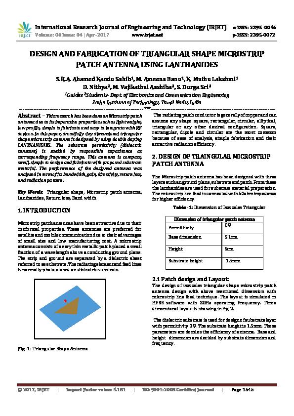 Microstrip patch antenna design pdf | ЕНТ, ПГК, гранты