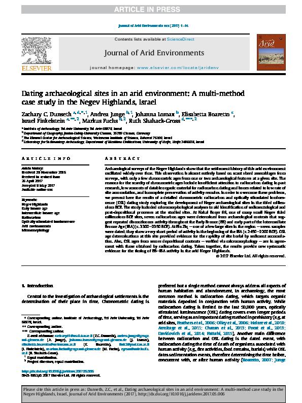 chronometric dating examples