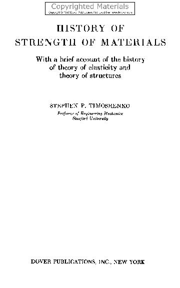 Books by Stephen P. Timoshenko (Author of Engineering Mechanics)