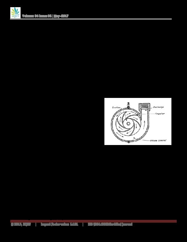 PDF) CFD ANALYSIS OF CENTRIFUGAL PUMP IMPELLER HAVING
