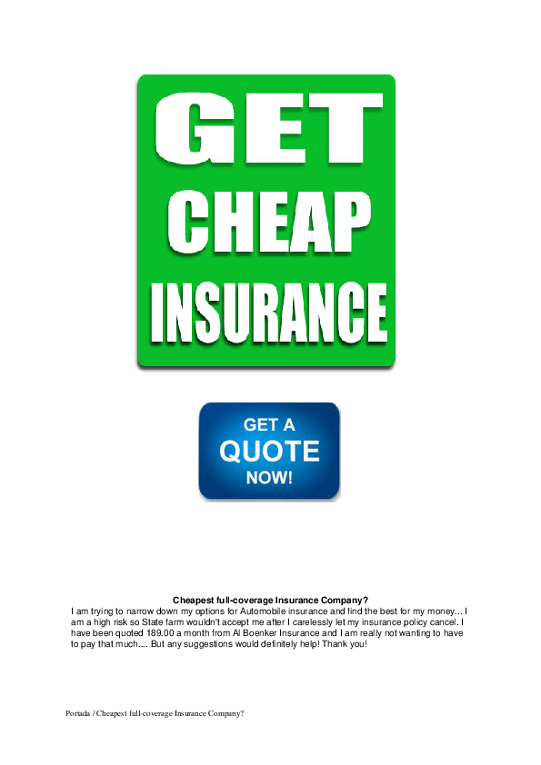 Why Is My Insurance So High >> Pdf Cheapest Full Coverage Insurance Company Abigail Carey