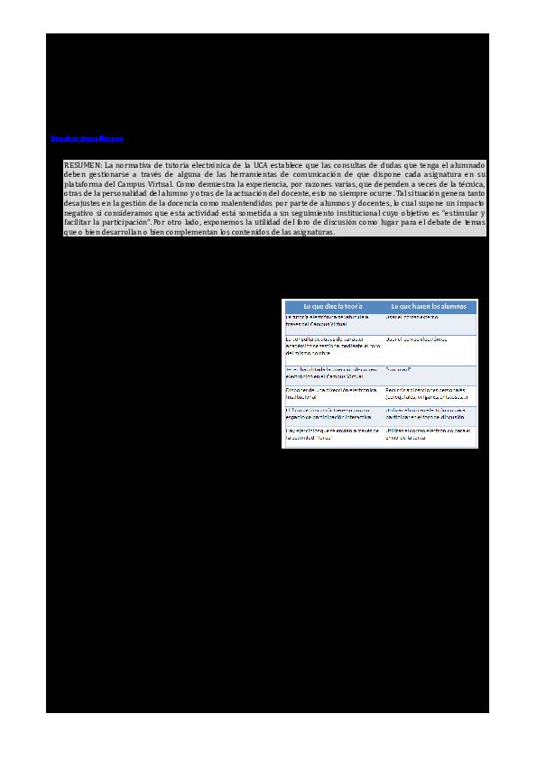 DOC) El correo electrónico y los foros como herramientas de