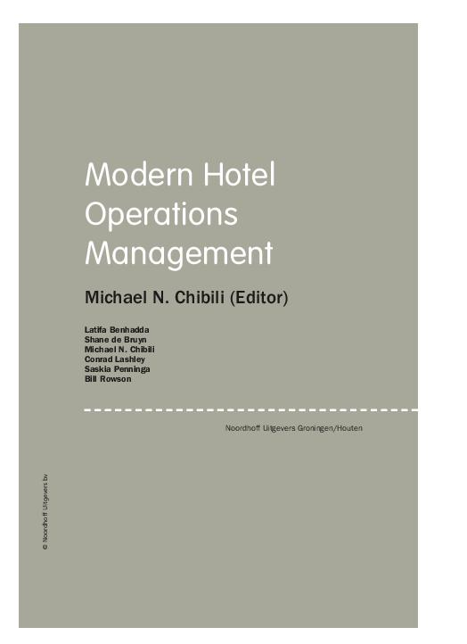 PDF) Modern Hotel Operations Management Michael N  Chibili (Editor