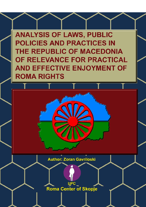 PDF) ''Analysis of the legislation, public policies and practices in