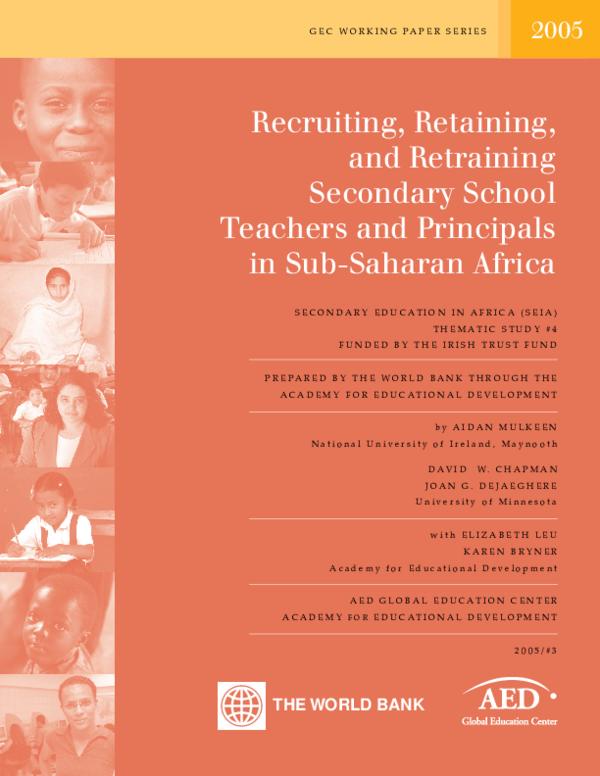 PDF) Recruiting, Retaining, and Retraining Secondary School Teachers
