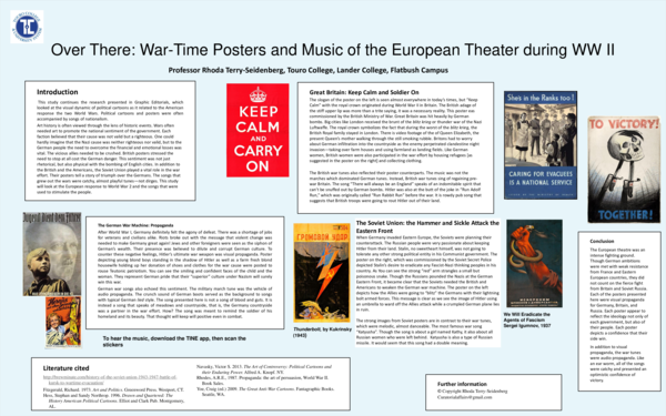 PDF) Over There: War-Time Posters and Music of the European