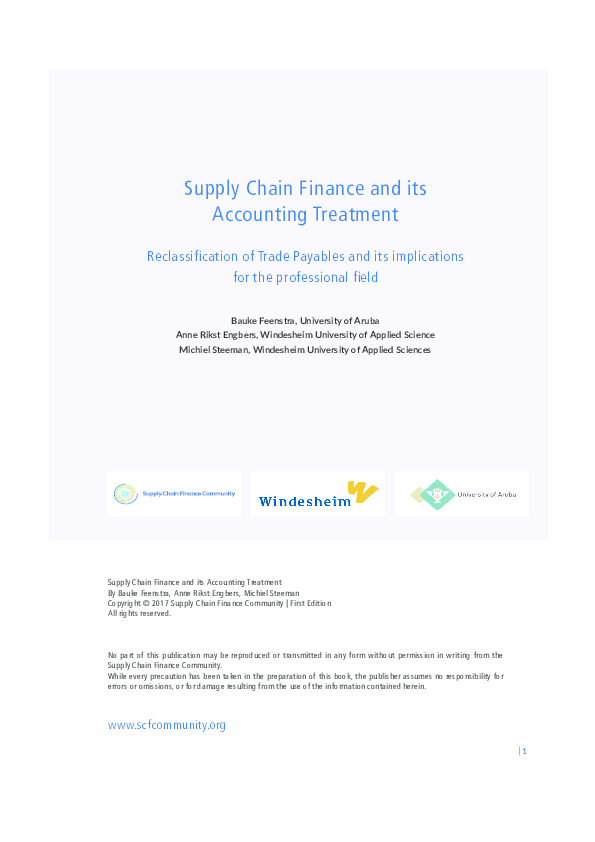 PDF) Supply Chain Finance and its Accounting Treatment