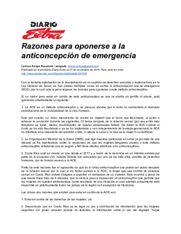 marcas de pastillas anticonceptivas en costa rica