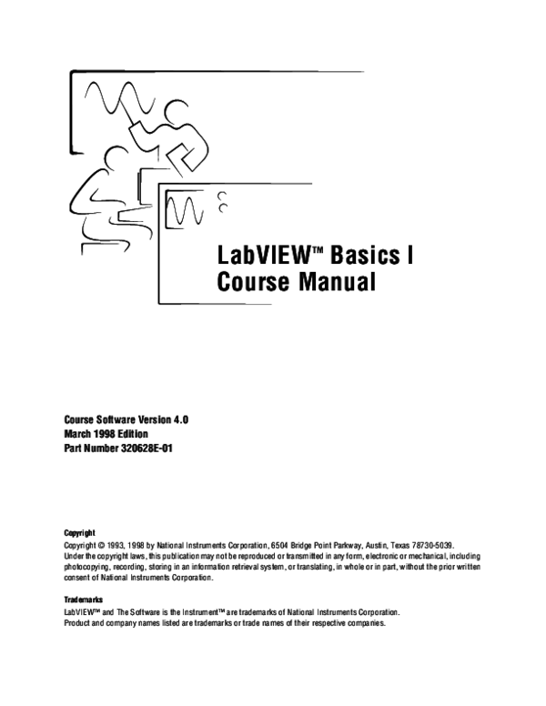 PDF) LabVIEW TM Basics I Course Manual Course Software