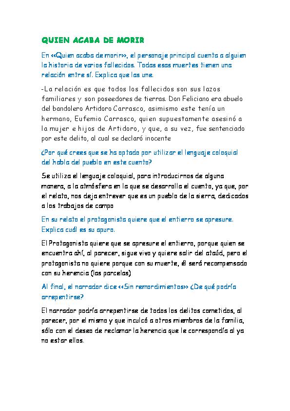 Doc Quien Acaba De Morir Rodrigo Varas Academia Edu
