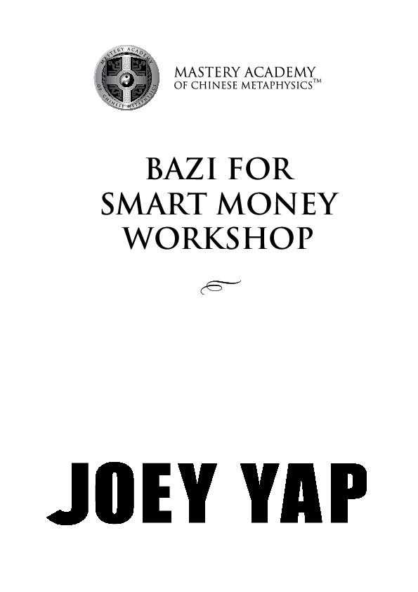 PDF) BAZI FOR SMART MONEY WORKSHOP | Harris Ang - Academia edu
