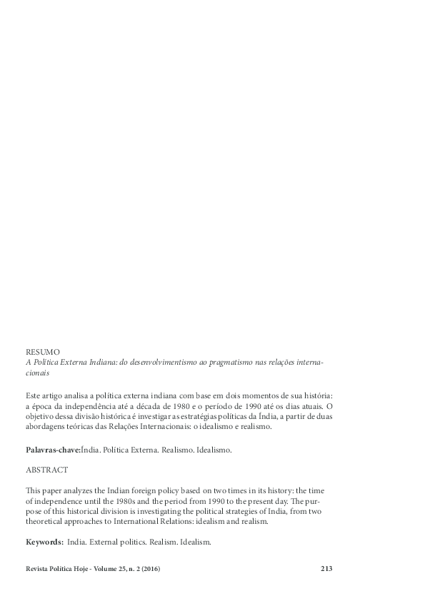 9bedcfd958 A Política Externa Indiana  do desenvolvimentismo ao pragmatismo nas ...