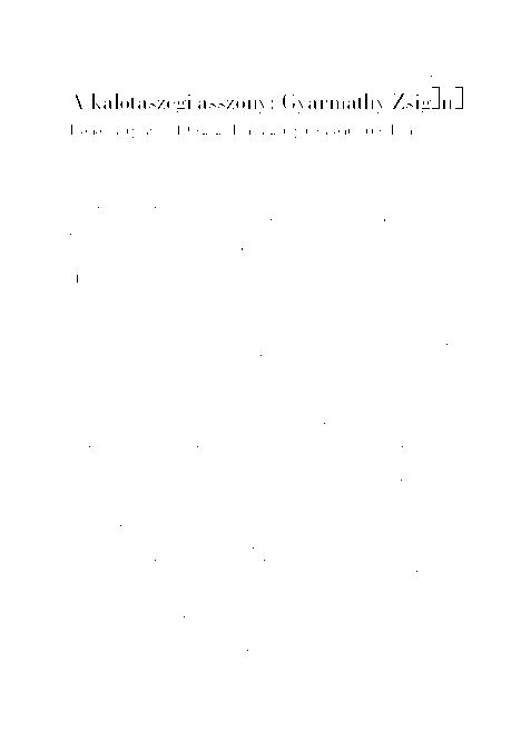 e2f240a31c PDF) A kalotaszegi asszony: Gyarmathy Zsigáné. Írónői életpálya a 19 ...