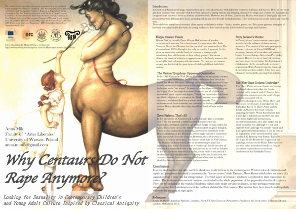 PDF) Why Centaurs Do Not Rape Anymore? Looking for Sexuality