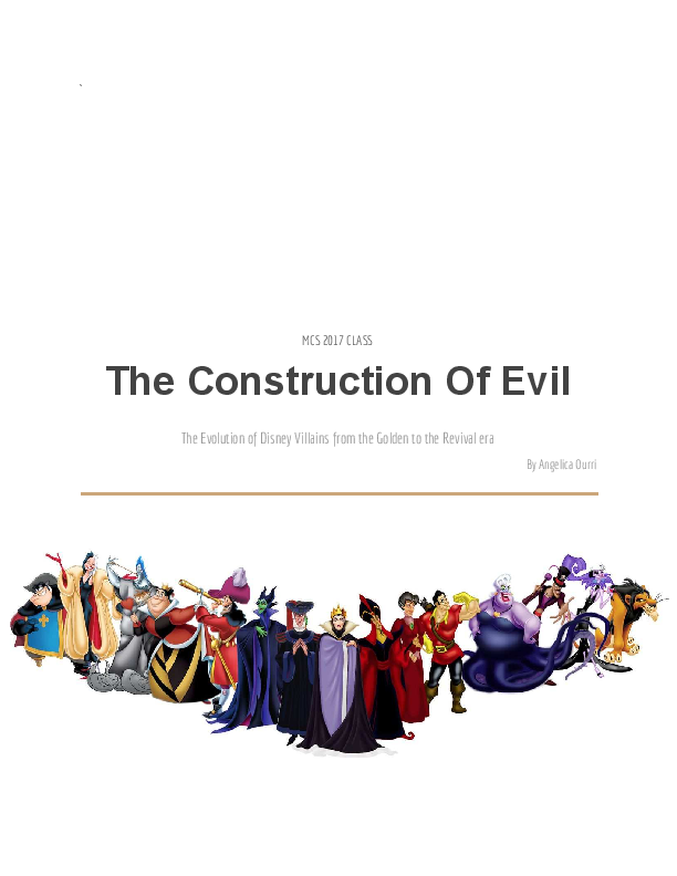 PDF) The Construction Of Evil -The Evolution of Disney
